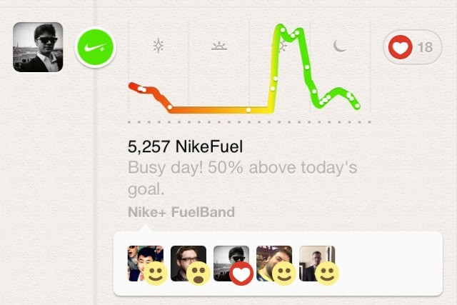 You can now brag about your latest FuelBand scores on Path.
