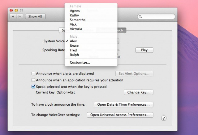 Make Your Mac Speak To You With OS X [Feature] | Cult of Mac