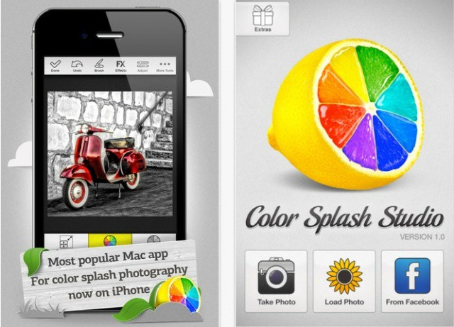 Add a splash of color to your images with Color Splash Studio for iPhone.
