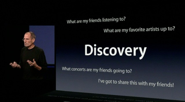 Steve Jobs announced Ping as a music