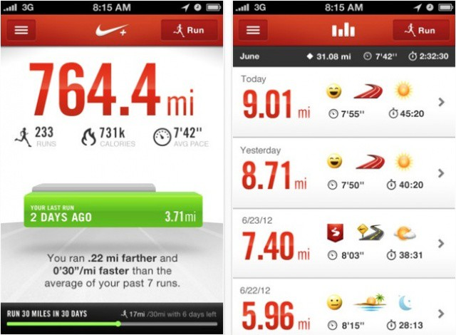 The latest update brings a nice new look to Nike+ Running for iPhone.