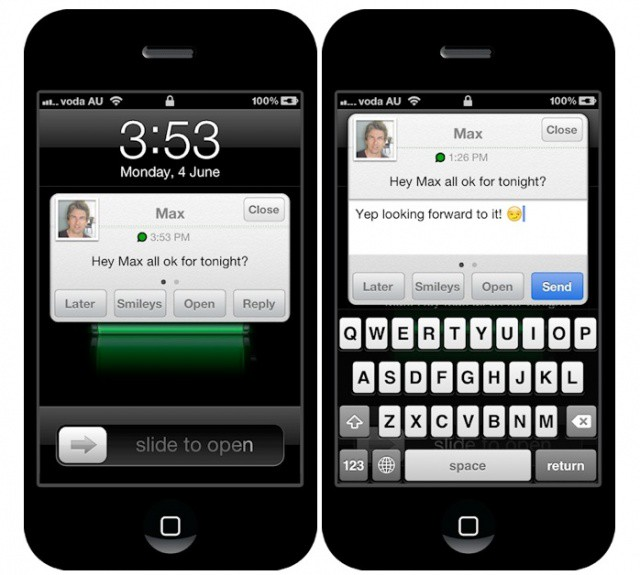 Why hasn't Apple introduced Quick Reply to iOS yet?