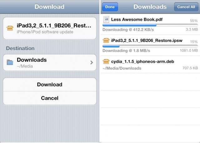 It took a while, but Safari Download Manager finally supports iOS 5.