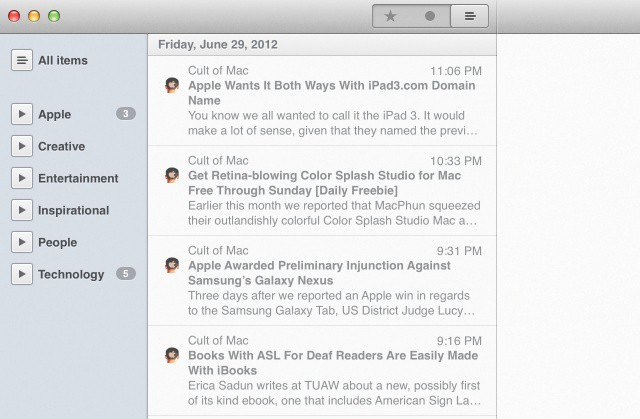 Your favorite RSS app on the Mac now comes with Retina goodness.