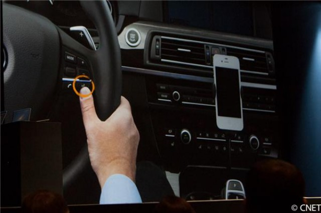 Apple demonstrates Siri integration in vehicles at WWDC.