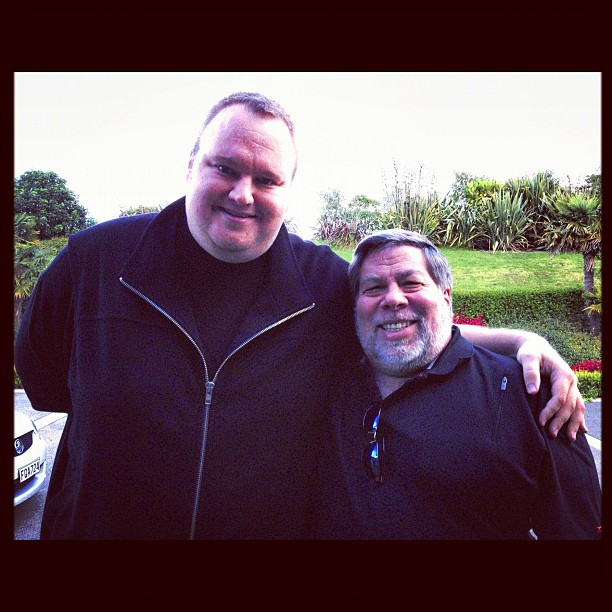 Wozniak and Dotcom pose for an image uploaded to Instagram.