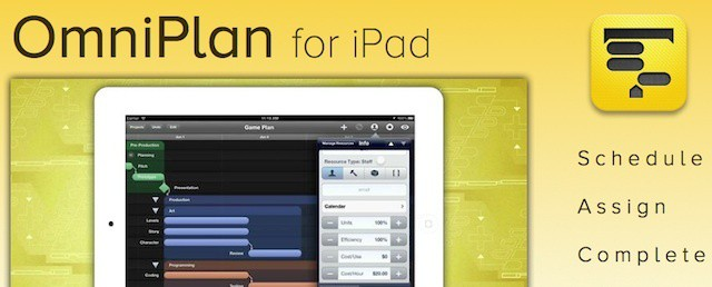 OmniPlan, last of the core Omni Group business tools, finally available for iPad
