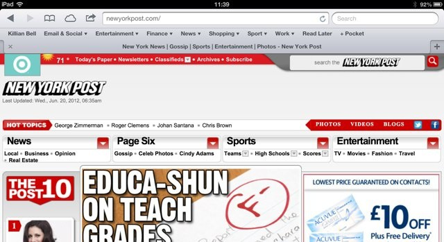 You can now access the New York Post website on iPad for free.
