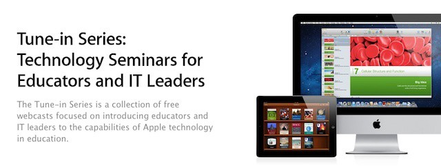 Apple is offering free webcasts on using iPads, iBooks Author, and iTunes in education