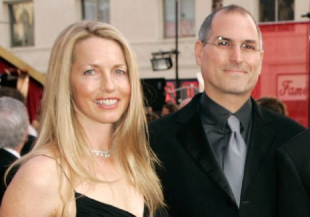 Laurene Powell with her husband and former Apple CEO Steve Jobs.