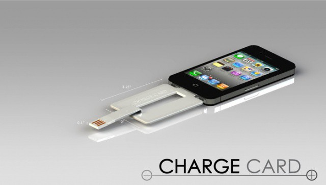 Chargecard Is An Iphone Charging Cable That Fits In Your