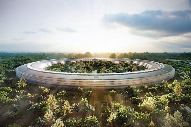 A rendering of what Apple's new campus may look like.