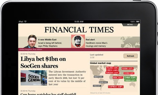 Is the Financial Times leading a mass exodus from Apple's Newsstand?