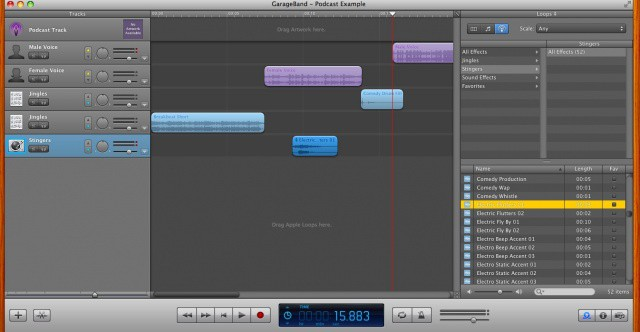 Podcasting with GarageBand