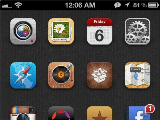 Part of my iPhone's Home screen.