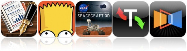Bongo's Simpsons Comics make their debut on iOS, NASA teaches us about spacecraft, Apple lets us manage our torrent downloads, and more.