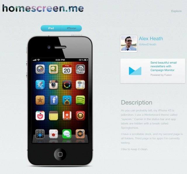 iphone layout