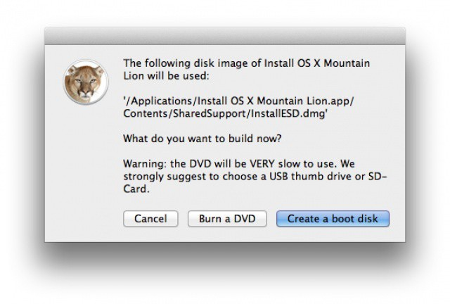 How To Make A Bootable Disk Or USB Drive Of OS X Mountain