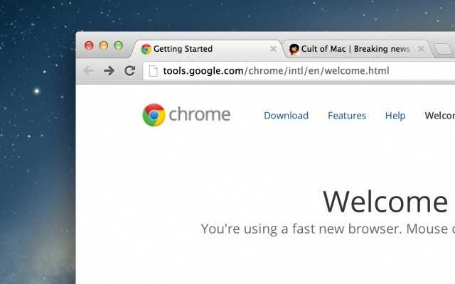 Google Chrome for Mac now looks good on a Retina display.