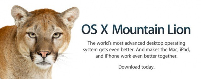 Mountain Lion Download Splash