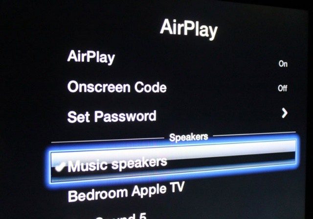 Apple TV will now send audio wirelessly to your speakers.