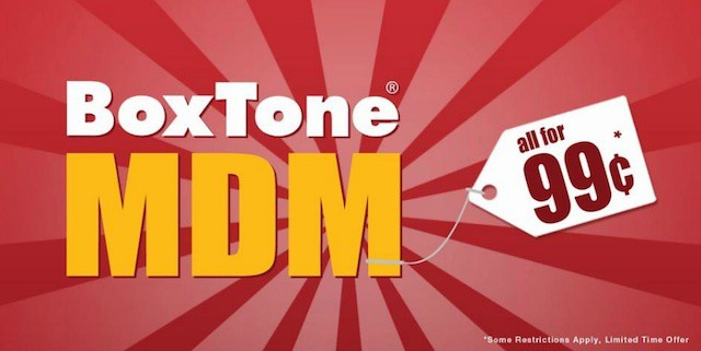 BoxTone turns up the competition for iOS/mobile management with $0.99 offer.