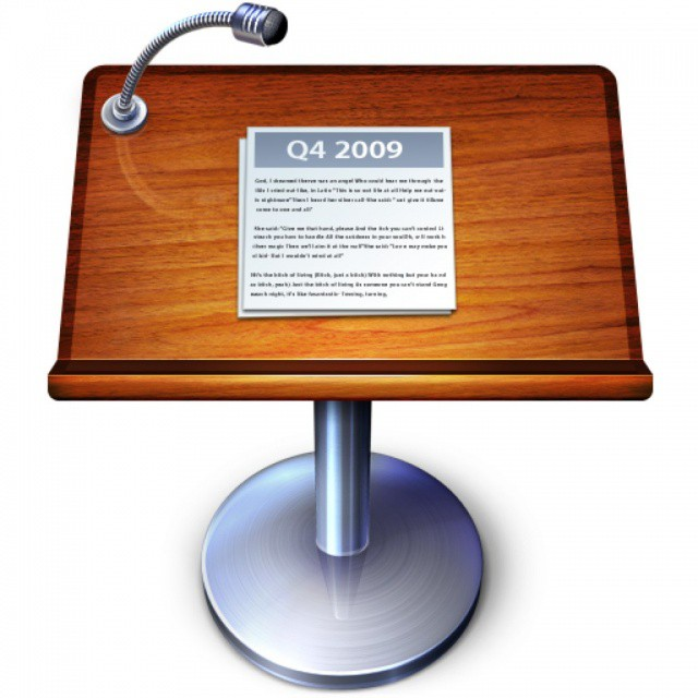 The old Keynote icon.