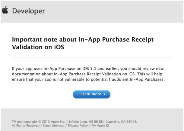 apple says in app purchasing exploit will be fixed in ios 6 ios