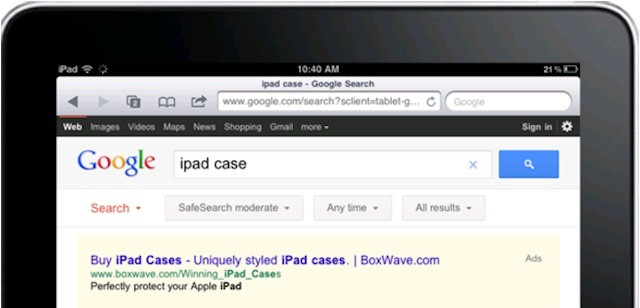 iPad user responses to search ads is changing how companies spend ad dollars.
