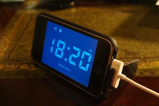 Forget the laptop or the BlackBerry... the device the iPhone most often replaces is the alarm clock on your nightstand.