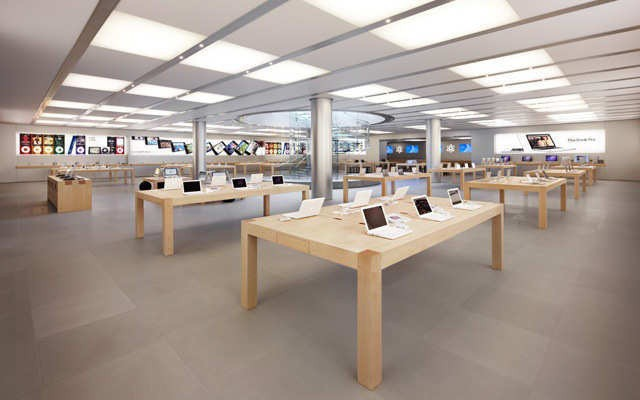 Apple stores can easily be mistaken for museums or art galleries because the retail elements have been pared back.