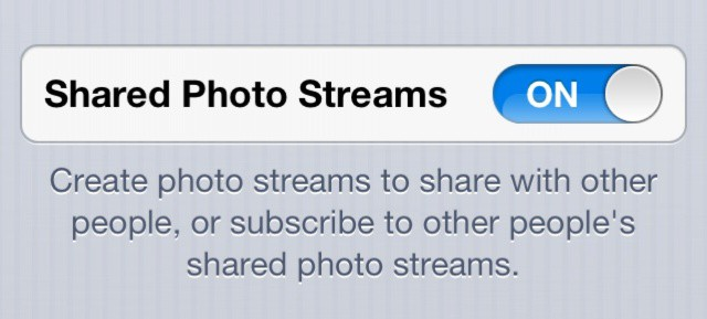 If you've got iOS 6 on your iPhone 3GS, you should now see this in your Photo Stream settings.