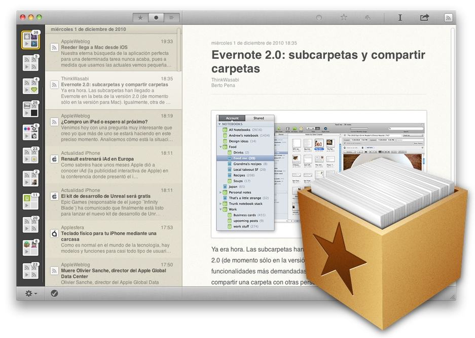 Five ways to replace safaris rss reader in mountain lion cult of mac reeder reheart Image collections