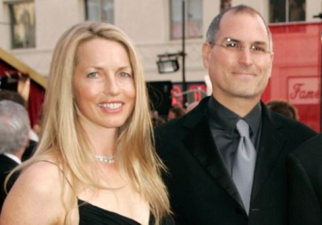 Laurene Powell with husband Steve Jobs.