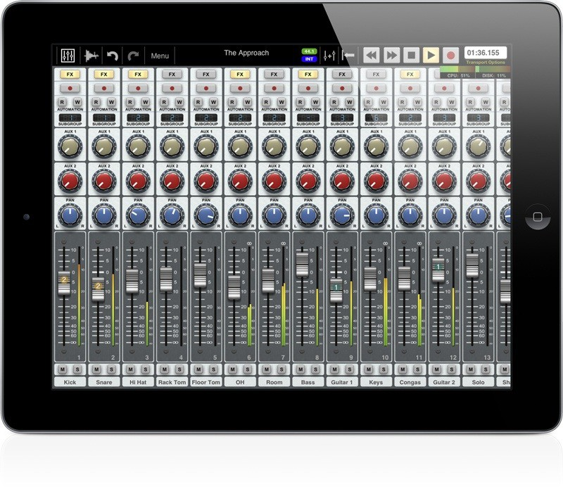 Auria Turns Ipad Into 48 Track Recording Studio Cult Of Mac