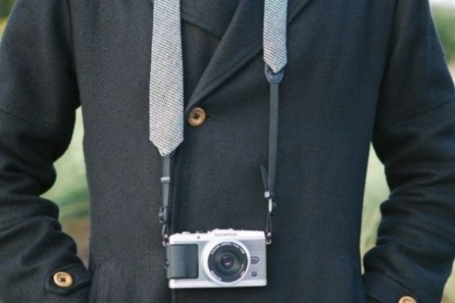 Looking good! The Camera Strap Necktie.