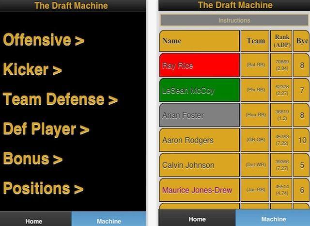 Draft Machine isn't the prettiest draft cheat sheet, but it still has some value.