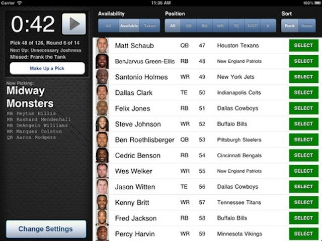 Draft Board is awesome app for leagues that do in-person drafts.