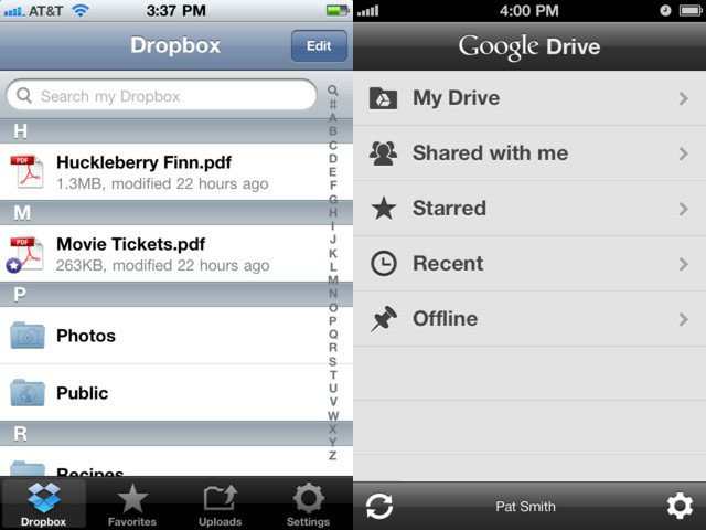 Drive Dropbox iOS