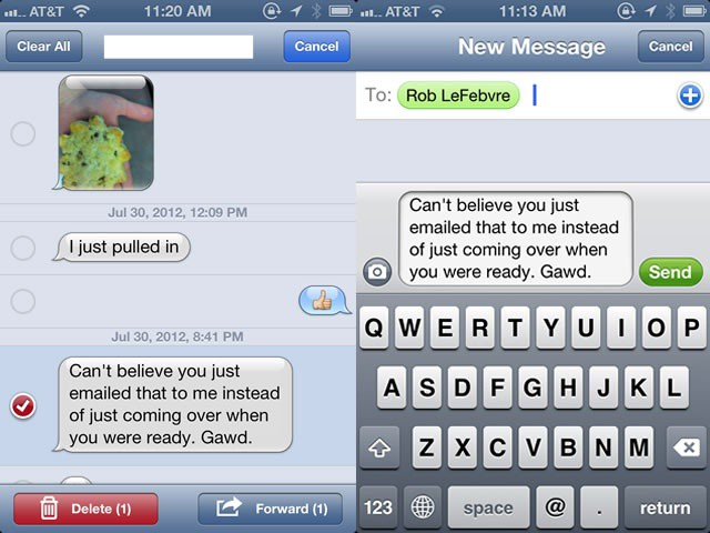 Forward Or Delete iMessages Right From Your iPhone [iOS Tips] | Cult