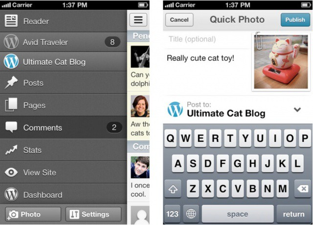 Need to upload a photo quickly on the go? No problem.