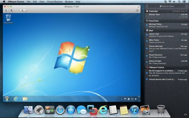 Fusion now supports features introduced in OS X Mountain Lion.