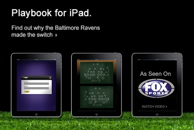College football teams follow NFL teams in replacing playbooks with iPads.
