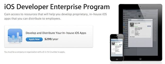 Apple's iOS developer program for enterprises offers companies a range of benefits.