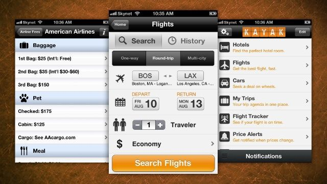 Kayak makes sure you get the best deal of airfare and hotels by comparing prices on the web.