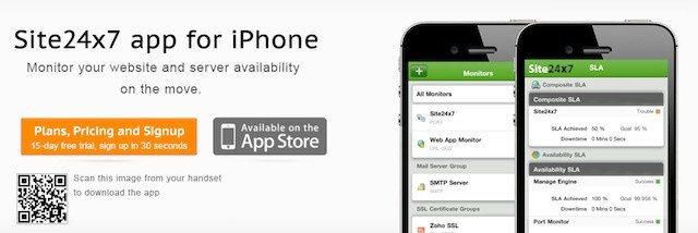 Server monitoring tool Site24x7 offers easy remote monitoring for iPhone-toting IT Pros