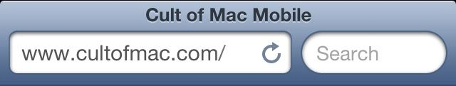 Expect mobile Safari's address bar to look like this for some time.