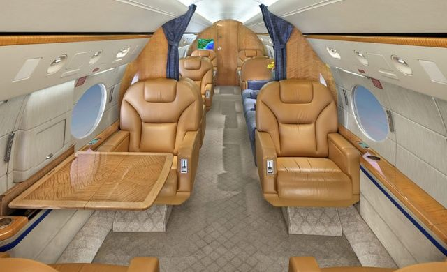The interior of Steve Jobs's private Gulfstream jet is what inspired the hideousness of iCal's faux-leather skeuomorphism.