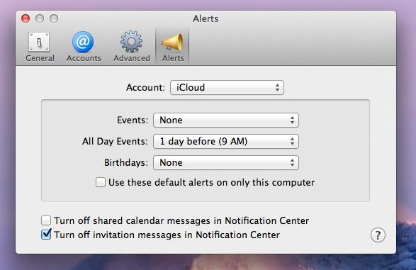 Calendar Notifications