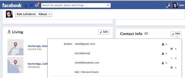 Facebook Contact Fix